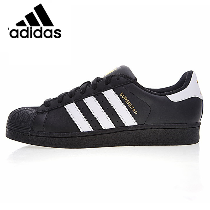 Official Authentic Adidas Clover SUPERSTAR Gold Shell Head Men And Women Skateboard Shoes Classic Black Fashion B27140