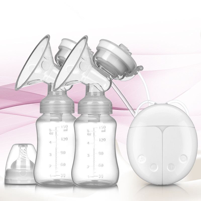 Double Electric Breast Pumps Powerful Nipple Suction USB Electric Breast Pump With Baby Milk Bottle Breastfeeding Accessories