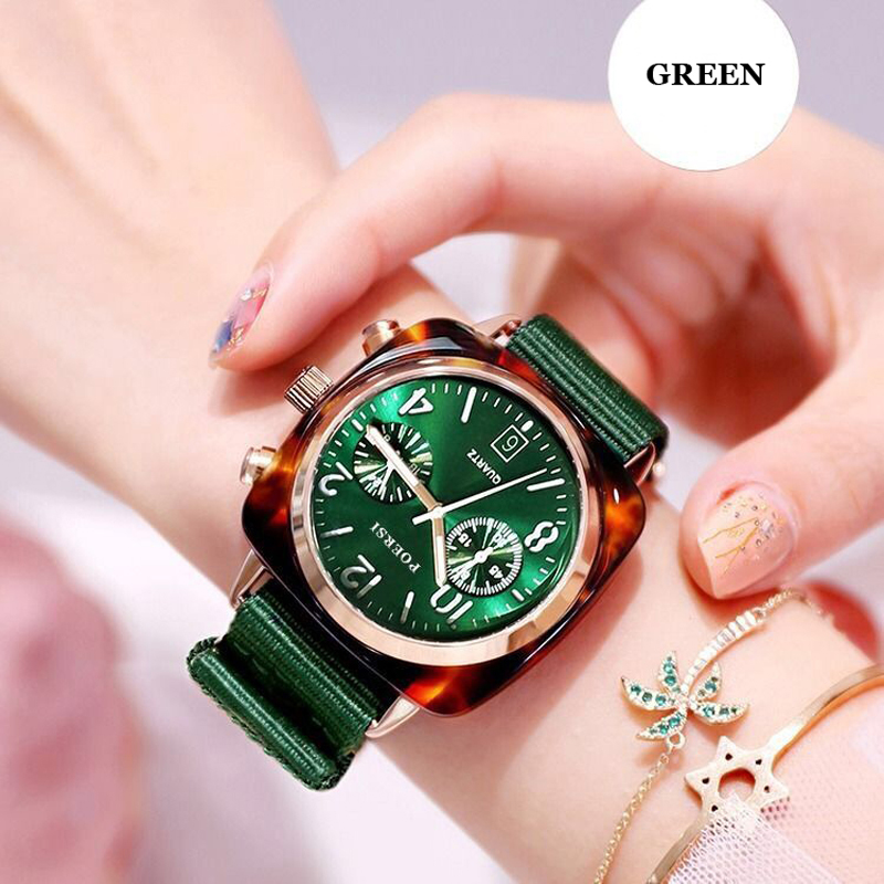 Square Women Watch Fashion Canvas Strap Rose Gold Waterproof Ladies Sport Wrist Watch For Montre Femme 2019 Relogio Feminino in Women 39 s Watches from Watches