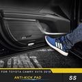 Авто Стайлинг анти-kick Накладка отделка аксессуары для интерьера Наклейка для Toyota Camry XV70 2018