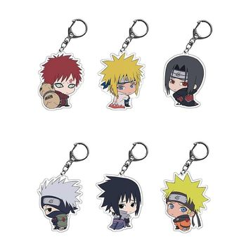 Cartoon Anime Keychain Acrylic Double Sided Transparent key Chain Ring  1