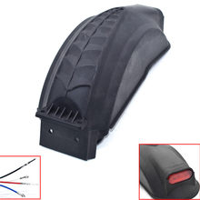 Electric Scooter Fender with Taillight Scooter Wings Rear Mud Guard Support Protection For q02 e-scooter 10 inch Scooter Fenders