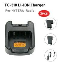 2 uds Walkie Talkie cargador de batería para HYTERA HYT BL1719 TC 510 TC 585 TC 500S Radio
