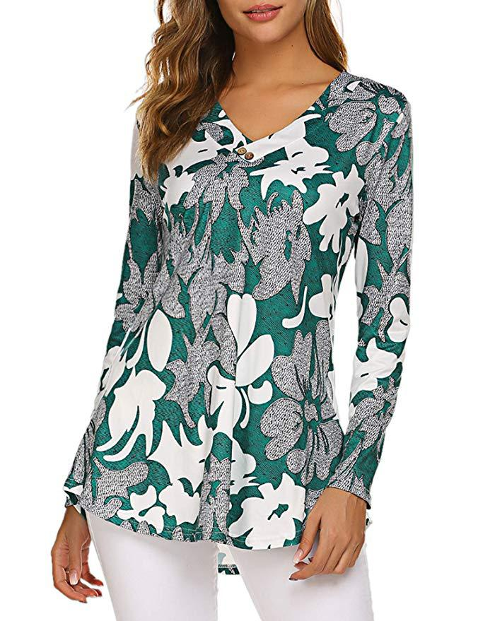 Hbe12c7dadf974b44b20eac86c3864aaeg - Large size Blouse Women Floral Print Long Shirts elegant Long Sleeve Button Autumn Tunic Tops Plus Size Female Clothing