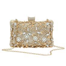Akşam el çantası parti düğün kristal manşonlar çanta kadınlar için Crossbody çanta lüks zincir omuzdan askili çanta taklidi Sac