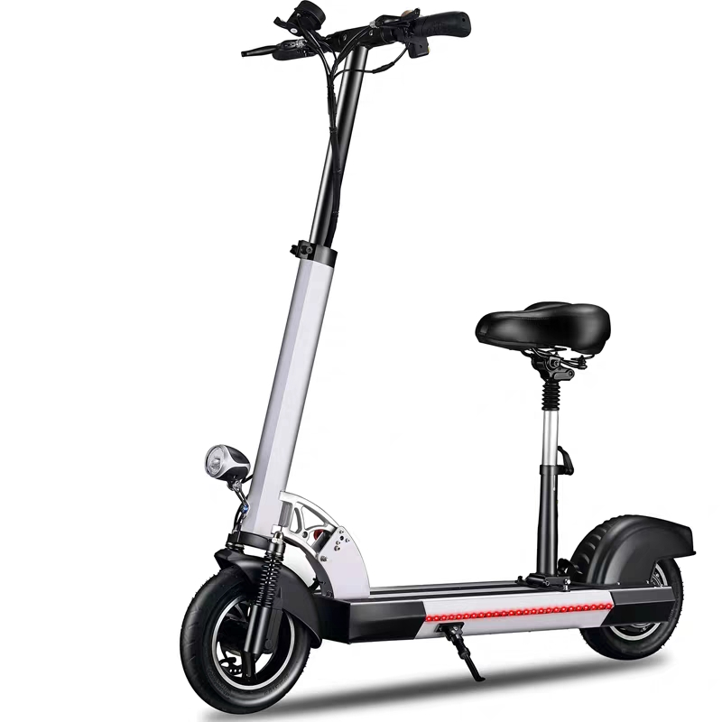 Hot Selling Adult Standing On E Scooter Skateboard Foldable Bicycle 10 Inch Big Wheel Small Folding Electric Bike Kick Scooter
