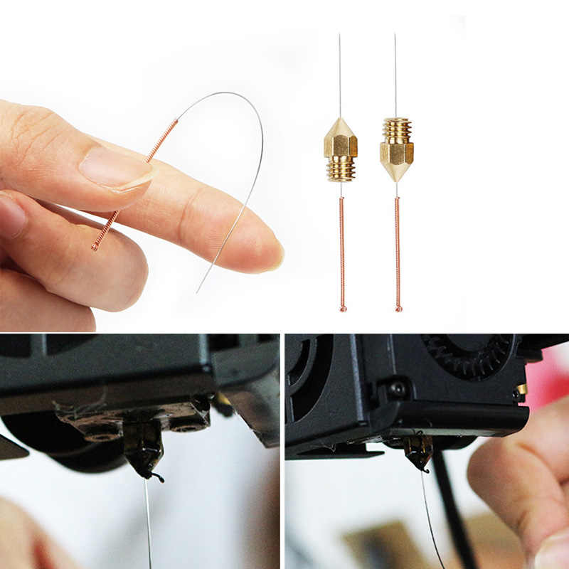 Латунная насадка + чистящая игла сверло + Пинцет + нагревательный Набор кубиков для 3D-принтера AS99