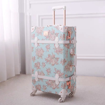 TRAVEL TALE 20″24″26 inch women Retro spinner rolling luggage set trolley floral suitcase trolley bags