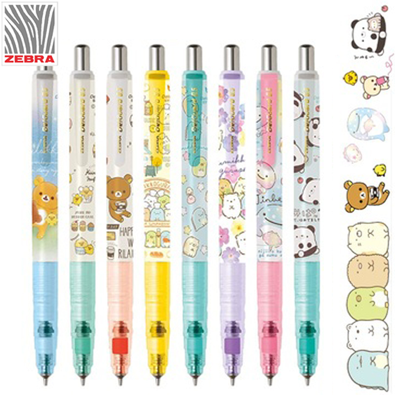 1PCS ZEBRA San-X Mechanical Pencil Delguard Break Core MA85 0.5mm Automatic Pencil Corner Creature Easy Bear
