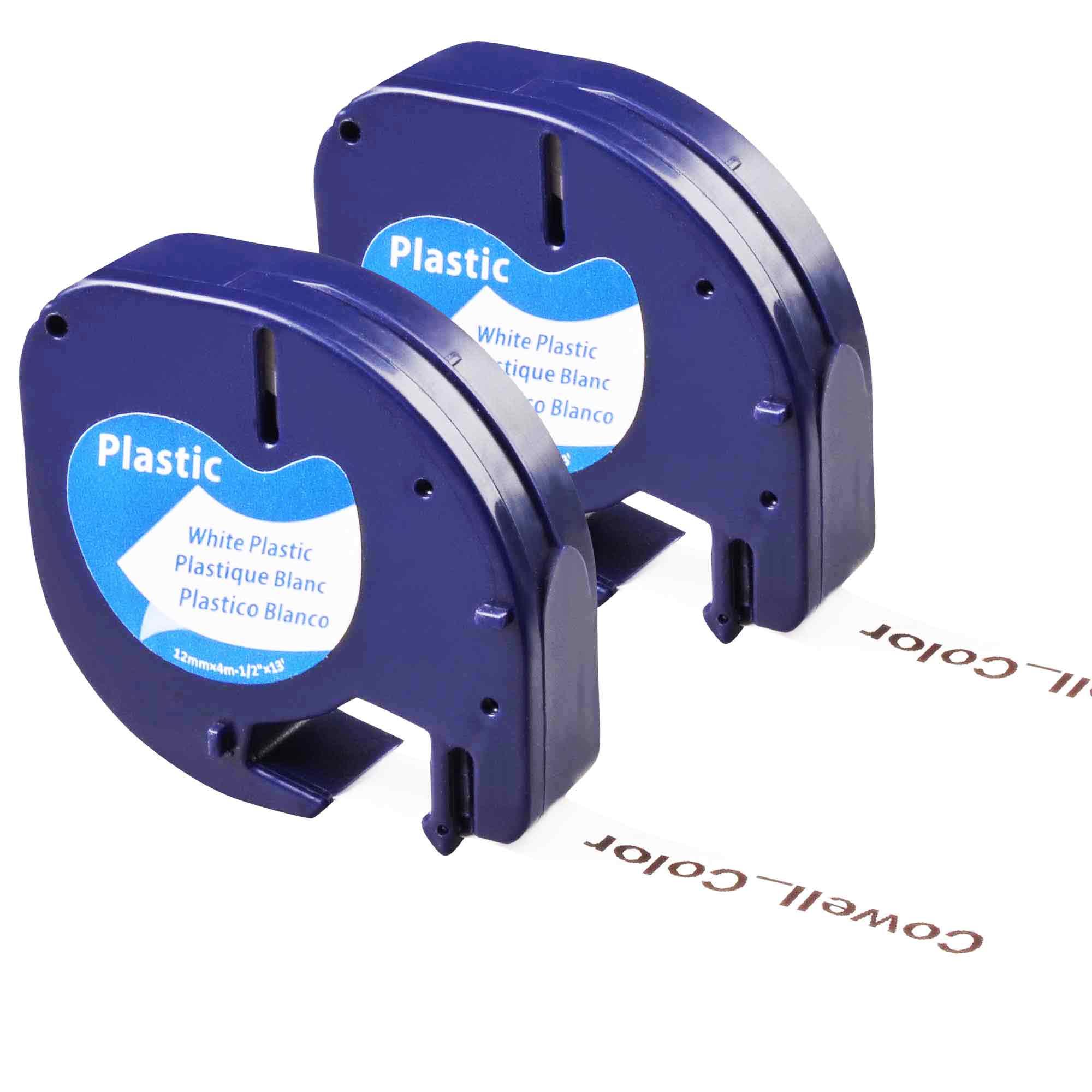 2 Compatible Dymo LetraTag 91331 S0721660 , LT-110T, QX 50, XR, XM, 91221 Tape(