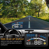 Hot Onever 4E 5.5 Car OBD2 II EUOBD car HUD Head Up Display Overspeed Warning System Projector Windshield Auto Electronic Volta