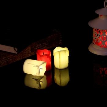 Świece noworoczne zasilany z baterii Led podgrzewacze podgrzewacze fałszywe światło świec Led świeca wielkanocna ślub boże narodzenie świeca elektryczna tanie i dobre opinie HNGCHOIGE CN (pochodzenie) Świeczka led Filar Wakacje Walentynki Świeca lampy Kolorowe płomień PP Plastic
