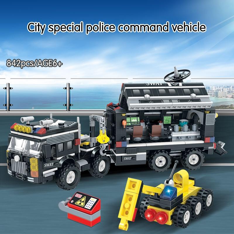 Winner SWAT City Police Station Truck Building Blocks Sets