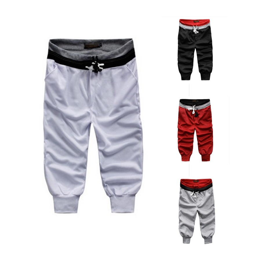 AliExpress 2018 New Style Capri Simple Casual Sweatpants Belt With Drawstring Fashion Athletic Pants