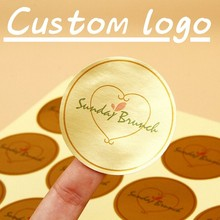 100 Pcs, Gepersonaliseerde, Bruiloft Stickers, Gunsten Dozen Labels, Logo, Foto, Custom Stickers, kraft, Clear/Waterdicht(China)