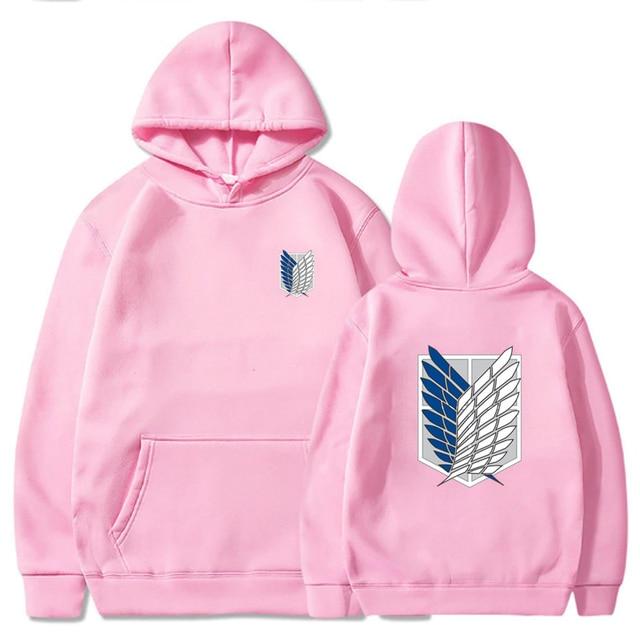 Attack on Titan Hoodie Men Fashion Loose Pullovers Casaul Tops oversize hoodie sweatshirt women Regular pullover hoodies 6
