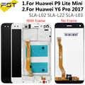 Huawei 社 P9 Lite ミニ Lcd ディスプレイ Huawei 社 Y6 プロ 2017 フレームと Lcd P9 Lite ミニ液晶 SLA L02 L22 L03 画面
