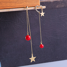 2019 New Wave Personality Asymmetrical Long Star Earrings Female Super Fairy Delicate