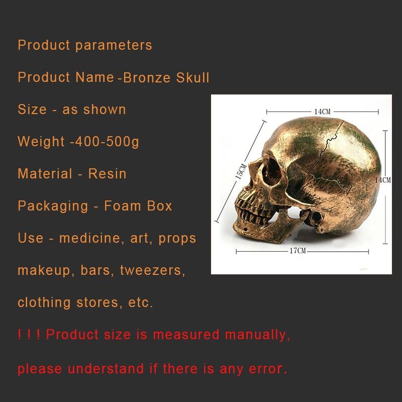 P-chama resina crânio modelo halloween decoração pintura