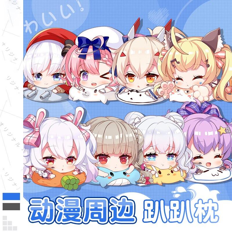 Anime Azur Lane USS Laffey Cosplay Cute Plush Doll Pillow Stuffing PP Cotton Soft Plush Lie Cushion Birthday Gift 55*40cm