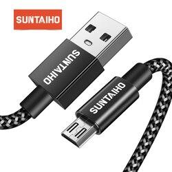 Suntaiho usb кабель micro usb cable провод для зарядки micro usb кабель для зарядки микро usb Зарядное устройство адаптер 2.4A шнур для зарядки телефона для samsung...