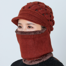 Winter Hat  Knitted Mother Hats Balaclava Wool Hat Knitted Winter Hat For Girl Female Caps Gorras Skullies Bonnet Mask knitted hat john richmond knitted hat