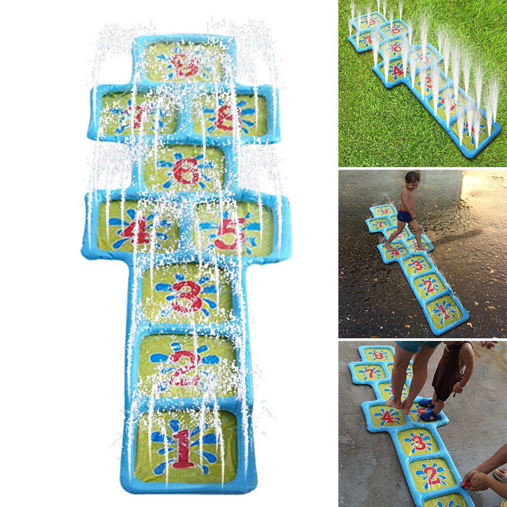 Accessories Splash Children Water Sprinkler Number Courtyard Spray Summer Hopscotch Fun Inflatable Toy Playing Outdoor Game Mat