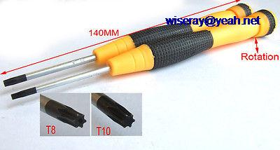 DHL/EMS 100PCS Plum (T8 + T10) SCREWDRIVER Anti-static Plastic Handle for Laptop repair-A7Electronic Toys