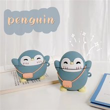 Милый чехол с мультяшным пингвином для airpods беспроводные