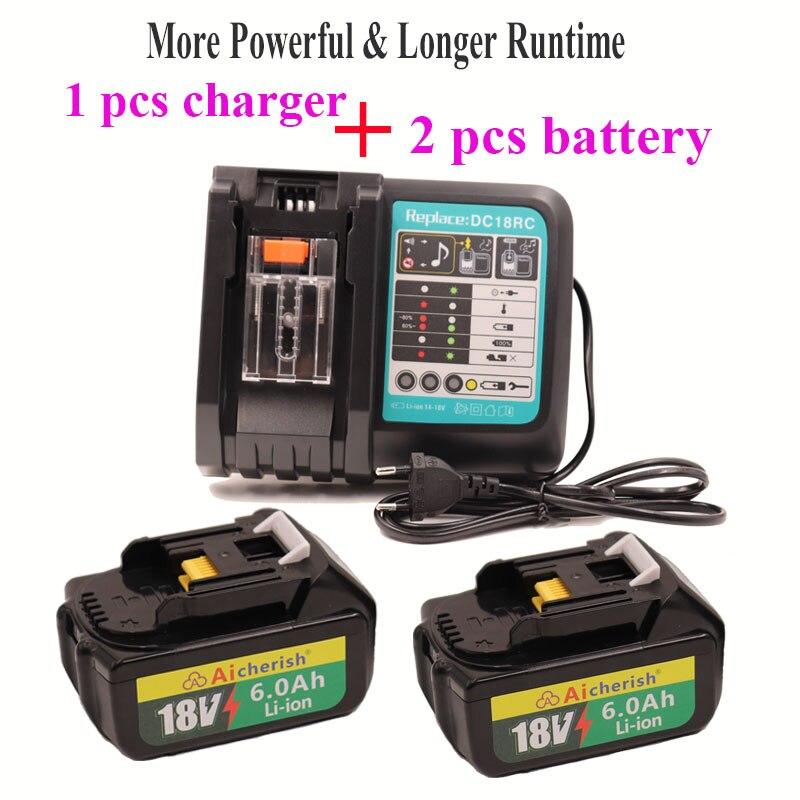 Makita 18v bateria 6ah 6000mah bl1860 bl1850