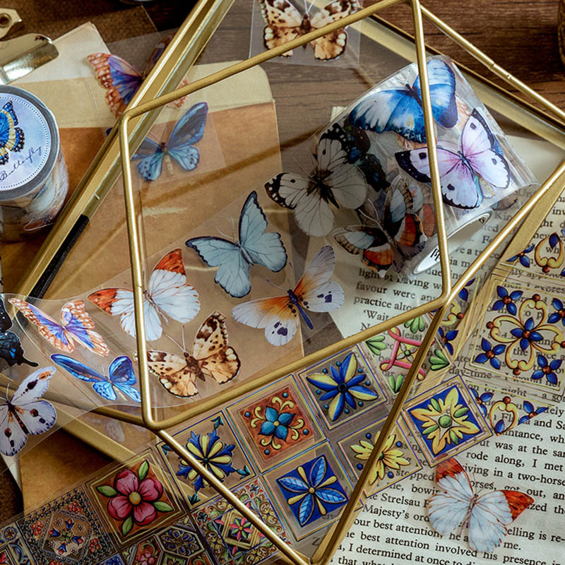 1PC Kawaii Flowers Masking Tape Cute Butterfly Washi Tape Bear Decorative Tape For Sticker Scrapbooking DIY Photo Album Supplies