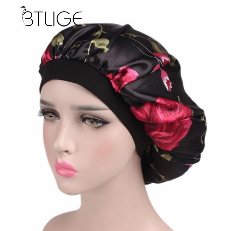 Women Wide Band Satin Bonnet Comfortable Night Sleep Hat Hair Cap Ladies Turban Hat For Women Good Quality Women Hat