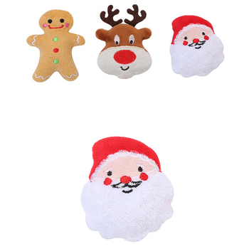 2020 Pet Supplies Cat Self-hey Toy Plush Stuffed Cotton Puppet Christmas Series Set Cat Juggling Toy Hot Sale image