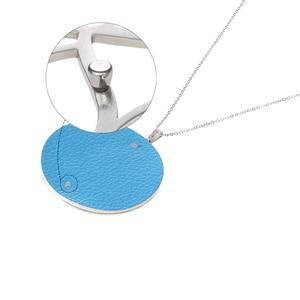 Image 5 - Cremo collar largo de acero inoxidable estrella colgante de cuero intercambiable pendientes de gota conjunto de joyas collar de cadena larga para mujer