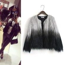 цена на 2019 Winter Coat Women Faux Fur Women's Fashion Gradient Imitation Fur Coat Women Clothes Plus Size Long Sleeve Fur Jacket Coat