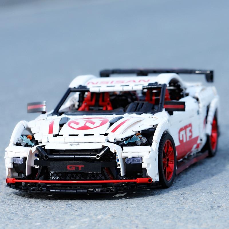 DHL 23010 3408 шт. Moc высокотехнологичный Nismo Nissan GTR GT3 скоростной гоночный спортивный автомобиль набор строительных блоков Кирпичи Модель игрушки 25326 3
