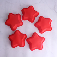 5pcs /set Cookie Molds Star Shape Biscuit Cutters Silicone  Cake Decoration Fondant Cutter Baking tools custom made 3d printed star wars logo fondant cookie cutter set