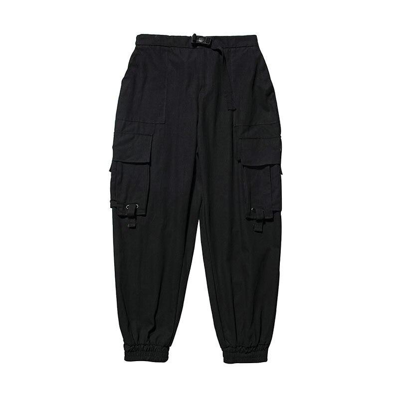 Black Cargo Pants Men Hip Hop 2020 Pants Mens Autumn Harem Pant Streetwear Harajuku Jogger Sweatpant Cotton Trousers Male Pants