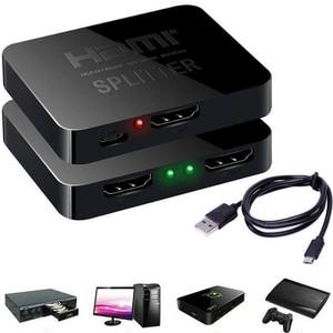 Image 5 - Larryjoe HDCP 4 HDMI スプリッタフル HD 1080 1080p ビデオ Hdmi スイッチスイッチャー 1 × 2 分割で 1 2 アウトアンプ用デュアルディスプレイ HDTV DVD