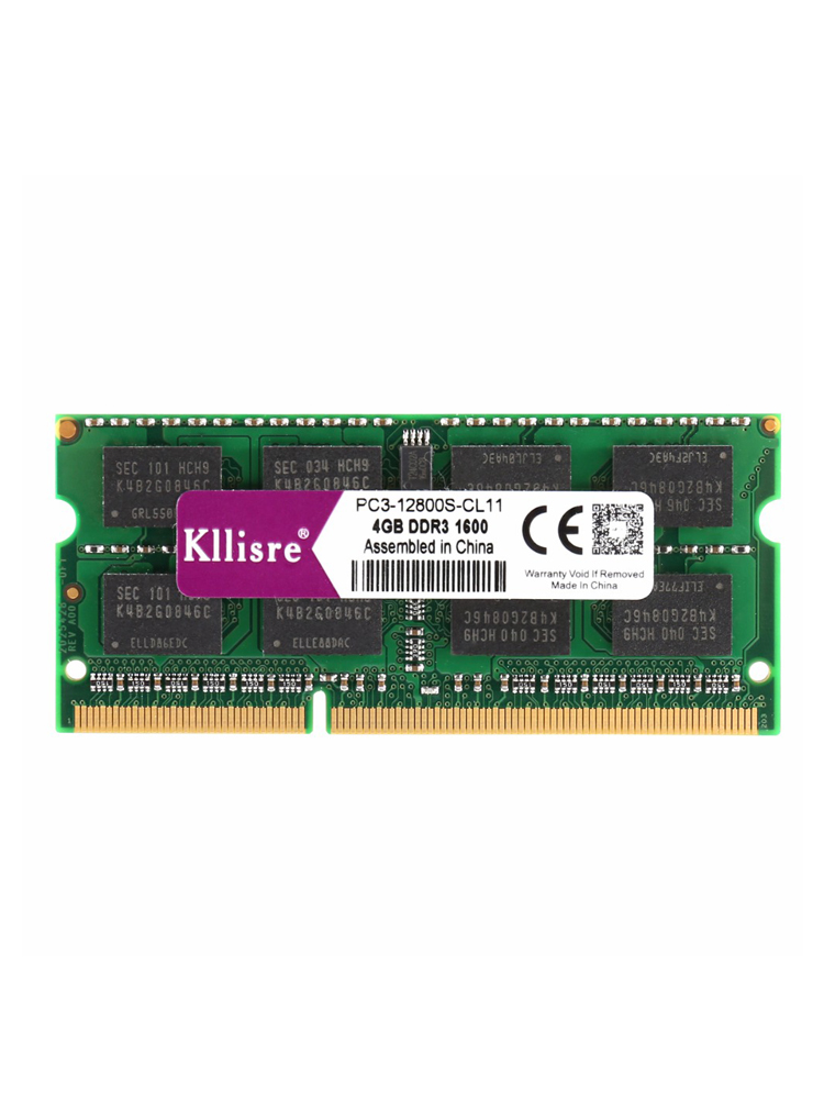 Kllisre Laptop Memory Notebook Ram 204pin DDR3 1600mhz SO-DIMM 8gb 1333mhz 4GB