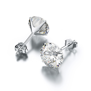 Jiayiqi Real 925 Sterling Silver Earrings 3-8mm Four Claws Crystal Zircon Silver Stud Earrings For Women Sterling Silver Jewelry 1