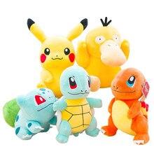 Pikachued Eevee Plüsch Puppe Charmander Squirtle Bulbasaur Snorlax Jigglypuff Charizard Piplup Popplio Rowlet Stofftier Kid Geschenk