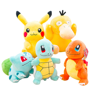 Pikachued Eevee Plush Doll Charmander Squirtle Bulbasaur Snorlax Jigglypuff Charizard Piplup Popplio Rowlet Stuffed Toy Kid Gift