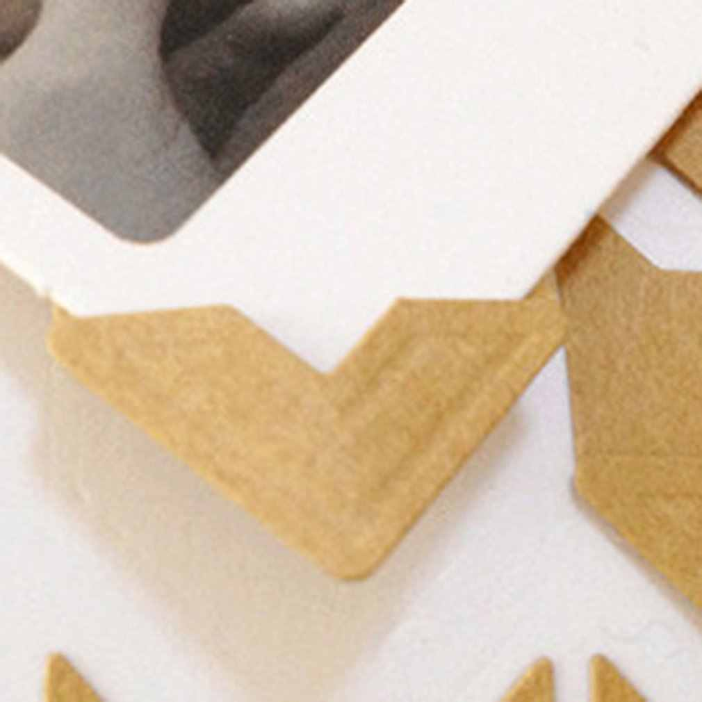 24PC DIY Vintage Corner Kraft Paper Stickers for Photo Albums Frame dairy corners Decoration