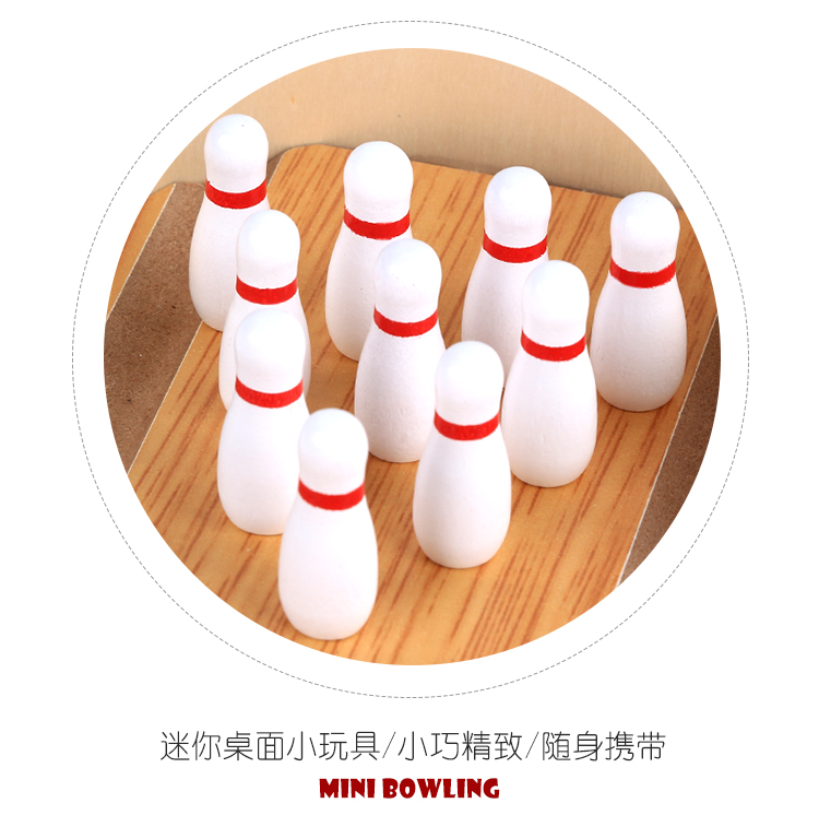 Деревянный Мини Настольный шар для боулинга, веселая развлекательная игра для родителей и детей, Детский деревянный мяч, обучающая игрушка