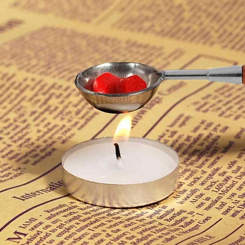 Anti-Panas Lilin Sendok Penyegelan Stamp Lilin Mencair Sendok Kayu Menangani Lilin Sendok Cap untuk Scrapbooking dropship