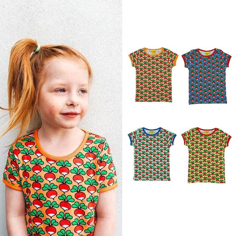 Enfants t-shirts 2021 nouveau été Dunssewden marque garçons filles radis imprimé à manches courtes T-Shirt bébé enfant en bas âge couverture en coton t-shirts
