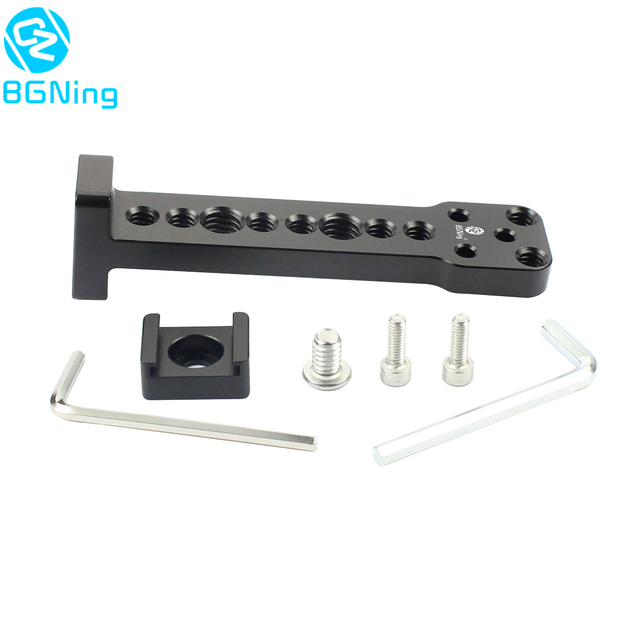 Aluminium External Extension Mounting Plate Bracket Quick Release for Mic Monitor Arm Adapter for Ronin S Handheld Gimbal