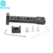 Soporte de placa de montaje de extensión externa de aluminio, liberación rápida para micrófono, adaptador de brazo de Monitor para Ronin S, cardán de mano