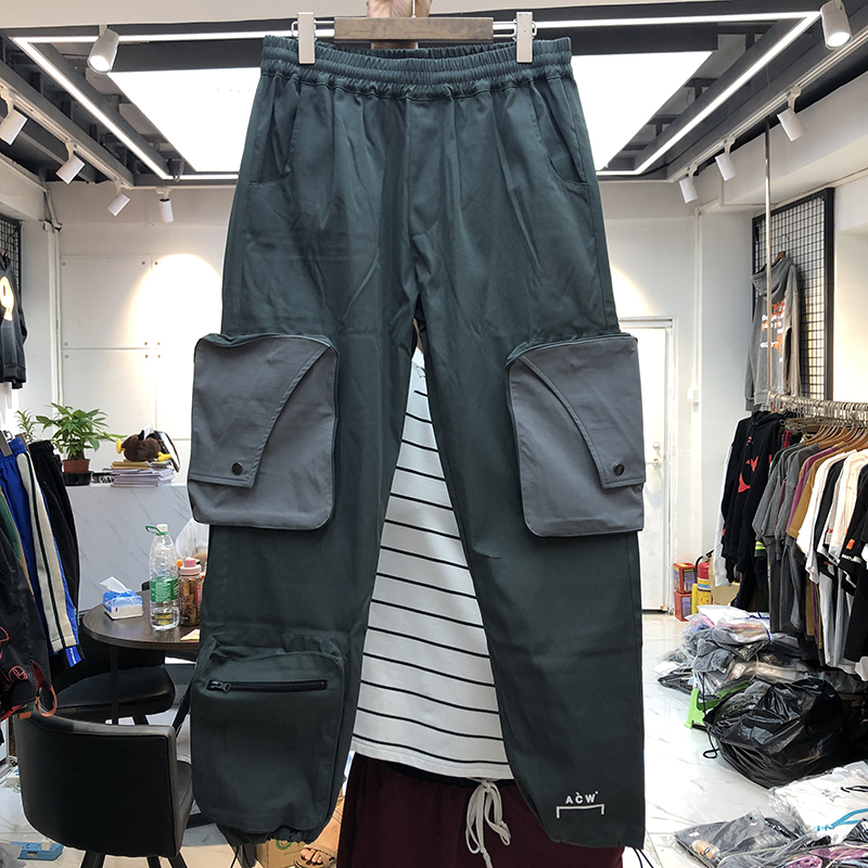 Men Women Pants A-COLD-WALL Pants Spring Autumn High Quality Multi-pocket Casual  A-COLD-WALL Trousers Kanye West  Overalls  Acw